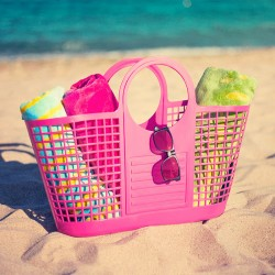 Beach Basket Pink (Made in Italy)