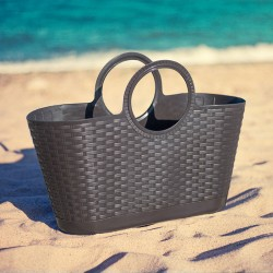 Rattan Basket Dark Brown (Made in Italy)